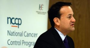 Minister for Health Leo Varadkar speaking at the launch of the NCCP cancer report 'A Strategy for Cancer Control in Irland'. Photograph: Cyril Byrne
