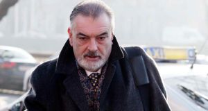 Ian Bailey  arriving at the Four Courts  for his High Court action for damages. Photograph: Courts Collins