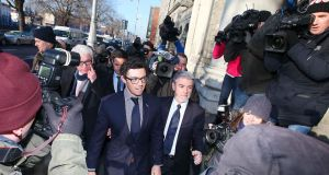 Rory McIlroy pictured arriving to the High Court in Dublin on Tuesday. A dispute between the golfer and his former sports management firm has been settled. Photograph: Courts Collins