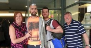 Irish man Patrick Lyttle has walked out of a Sydney hospital, a month after he was left on life support after allegedly being punched by his brother Barry.