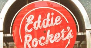 Eddie Rockets in the Bridgewater Shopping Centre in Arklow, Co Wicklow, was one of nine businesses served a closure order by the Food Safety Authority of Ireland last month. Photograph: The Irish Times.