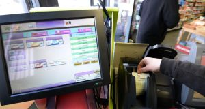 Premier Lotteries Ireland was already under fire over the roll-out of new technology before it was forced to cancel Wednesday's draw. Photograph: Dara Mac Dónaill