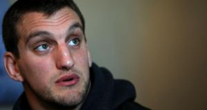 Wales captain Sam Warburton during a press conference at The Vale Resort, Hensol. Photograph: Nick Potts/PA Wire