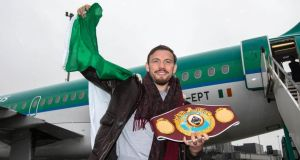 Andy Lee will defend his WBO middleweight title against Peter Quillin, with the winner to take on Billy Joe Saunders. (Photograph: INPHO/Cathal Noonan)