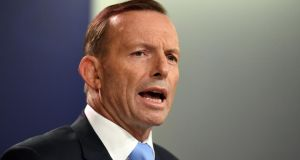 Australia's prime minister Tony Abbott:   poll ratings have languished since last May's budget, which was widely criticised as unfair to the lower and middles classes. Photograph: Saeed Khan/AFP/Getty Images
