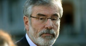 Sinn Féin leader Gerry Adams has said that the  next general election will present the public with an unprecedented opportunity to transform the political landscape. Photograph: Dara Mac Dónaill/The Irish Times.