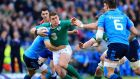 Ireland's Ian Keatley in action against Italy. Photo: Gareth Fuller/PA Wire.