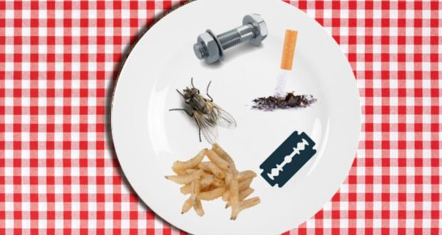 Dead maggots, wire and a razor blade found in food last year