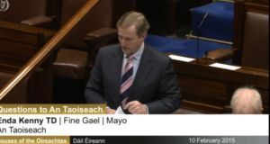 """You do not own the Constitution, nor do I,'' Taoiseach Enda Kenny told Clare Daly TD in the Dáil on Tuesday. ""You cannot change the Constitution, nor can I.'' Photograph: Oireachtas TV"