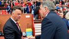 "Louis van Gaal told the press to copy his statistics from the match and ""go to   Big Sam"".   Photograph: Laurence Griffiths"