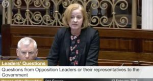 Socialist Party TD Ruth Coppinger speaking in the Dáil on Thursday. Photograph: The Irish Times