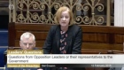 There has been furious exchanges in the Dáil after Ruth Coppinger TD was accused of calling the gardaí 'dogs'.