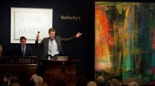 'Abstraktes Bild' by Gerhard Richter sold at Sotheby's in London for €41 million, way above its estimate