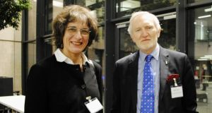 Judge Johanna Schmidt-Räntsch; and Flac senior solicitor Michael Farrell