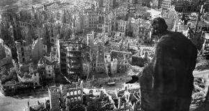 Destroyed: looking over the skeletal city from the town hall in 1945. Photograph: Walter Hahn/AFP/Getty