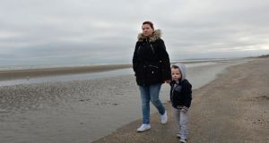 Tara Tevlin and her son Leon (2) from Duleek, Co Meath, who have been homeless since April 2014. Photograph: Dara Mac Dónaill