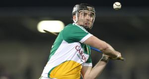 Shane Dooley scored 1-14 in Offaly's victory over Laois at O'Moore Park. Photograph:    Lorraine O'Sullivan/Inpho