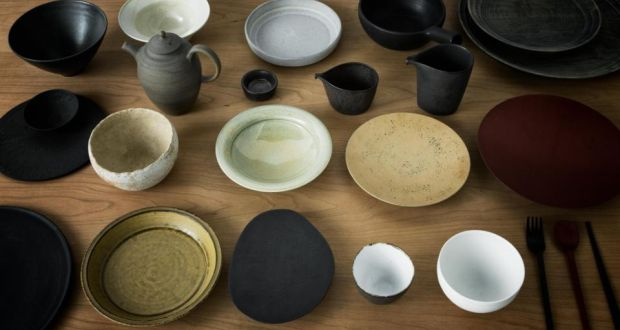A selection of plates bowls and utensils used at Noma Japan now for sale & Relics of Noma Tokyo restaurant for sale