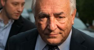 "Dominique Strauss-Kahn, the former head of the International Monetary Fund (IMF),  and 13 others are charged with hiring prostitutes for orgies in a case known as the ""Carlton Affair"" for the name of the hotel in Lille where some of the sex parties took place. Photograph: Jasper Juinen/Bloomberg."