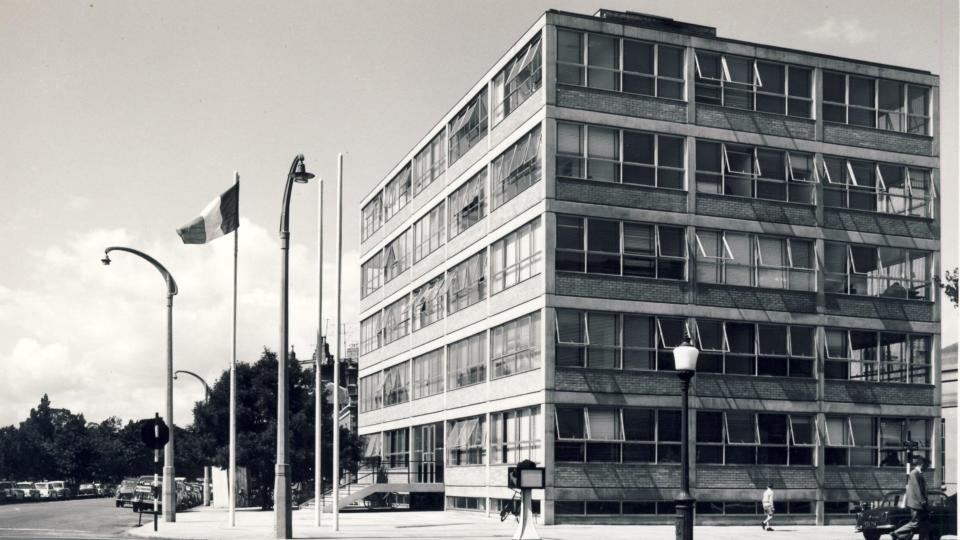 Bord Fáilte building is a Dublin welcome to midcentury