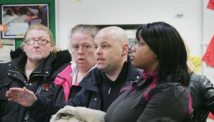 Parents express opposition to proposed cuts  at a Deis school in Darndale in 2012. Photograph: Alan Betson