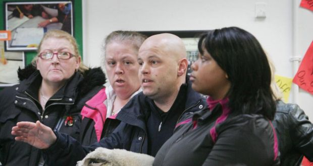 The multicultural classroom how can our schools ensure a more parents express opposition to proposed cuts at a deis school in darndale in 2012 photograph fandeluxe Images