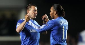 Two of Chelsea's playing icons of last decade, John Terry and Didier Drogba, would have interesting viewpoints on Wednesday's racist chanting by their fans at a Paris Metro station.Photograph: Phil Cole/Getty.