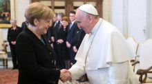 Angela Merkel meets Pope Francis to discuss G7 summit