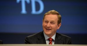 """The era of new taxes and charges is over,"" says Taoiseach Enda Kenny at the  Fine Gael National Conference 2015 in Castlebar, Co Mayo. Photograph: Dara Mac Dónaill"