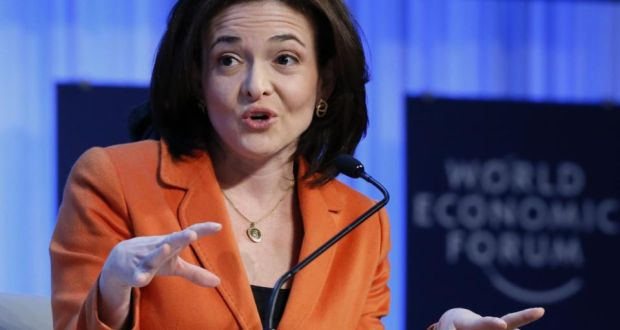 """Lean in"", urges corporate queen Sheryl Sandberg (above). Meanwhile, at least one very successful female  has discovered workplace  laziness has major benefits. Photograph: Pascal Lauener/ Reuters"