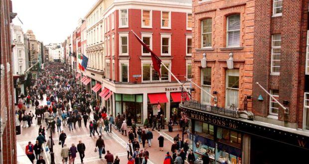 Die Grafton Street von oben