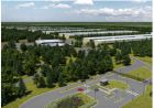 An architect's drawing of the proposed €850 million Apple data centre Athenry, Co Galway.