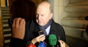 Documents released under the Freedom of Information Act show that Minister for Finance Michael Noonan endorsed a more gradual approach to lending restrictions rather than suddenly restricting banks from lending more than 80 per cent of a home's purchase price. Photograph: Dara Mac Dónaill/The Irish Times.