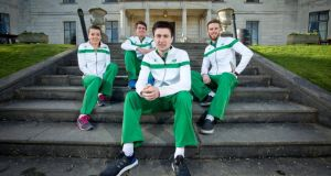 Announcement of the Irish Team for the European Indoor Athletics Championships in Prague - Ciara Everard, Declan Murray, Mark English and Dara Kevrick. Photograph: Morgan Treacy/Inpho
