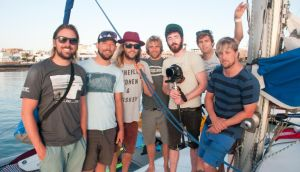Allan Mulrooney, Barry Mottershead, Keith Harkin, 'Shambles' McGoldrick, Peter Martin, Stephen Kilfeather and Kian Egan on their trip to the Canary Islands.Photograph: Andrew Kilfeather