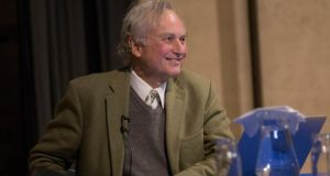 Richard Dawkins, who appeared at the Burke theatre, Trinity College on Tuesday at an event organized by the Origins Project Dialog in which they discuss Randomness and Uncertainty. Photograph: Fergal Phillips