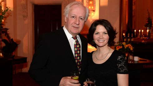 Stephen Brennan and  Dawn Bradfield, at the 44th Annual Hennessy Literary Awards.  Photograph: Dara Mac Donaill / The Irish Times