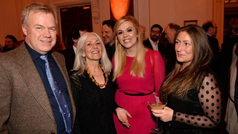 From left:  Matt Malone, Paula Meehan, Michelle Doyle and Karen Holligan, at the 44th Annual Hennessy Literary Awards.   Photograph: Dara Mac Donaill / The Irish Times