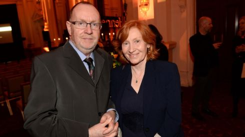 Richard Boyle and Mary Butler, at the 44th Annual Hennessy Literary Awards. Photograph: Dara Mac Donaill / The Irish Times