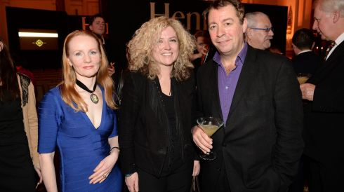 From left: Martina Devlin, Audrey Brennan, Philip Judge, at the 44th Annual Hennessy Literary Awards.  Photograph: Dara Mac Donaill / The Irish Times