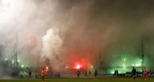 Greece's professional leagues have been suspended in a bid to crackdown on incidents of crowd violence. (Photograph: REUTERS/Kostas Tsironis)