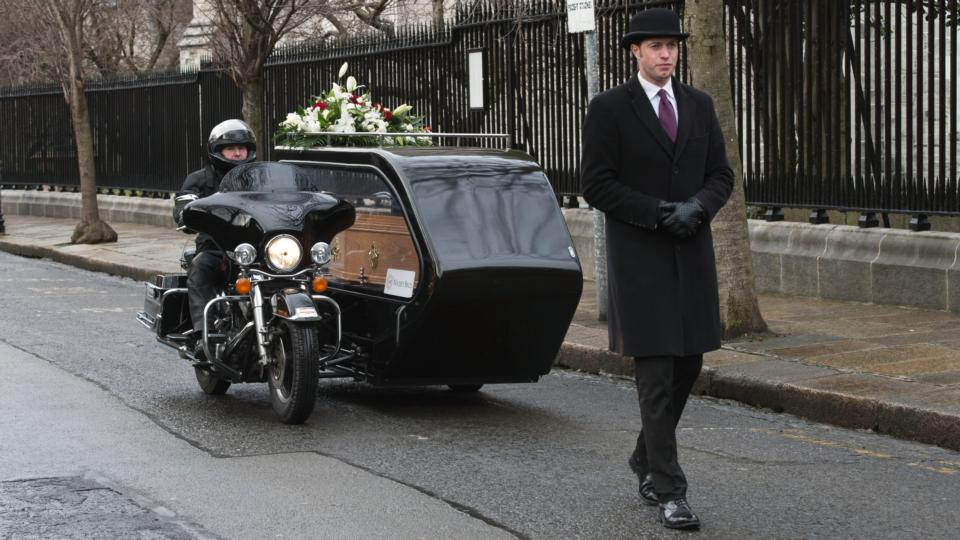 harley hearse to carry irish biker dead to final resting place