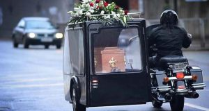 A view from the rear of the final journey. Photograph: Bryan O'Brien/The Irish Times