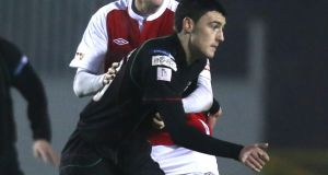 John McGuigan in action for  Glentoran. Photograph: Inpho