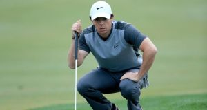 Rory McIlroy in action during the pro-am as a preview for The Honda Classic. Photograph: David Cannon/Getty Images