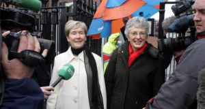 Ann Louise Gilligan and  Katherine Zappone: Their case  failed because the High Court ruled in December 2006 that the traditional definition of marriage was confined to opposite-sex couples. Photograph: Cyril Byrne/The Irish Times