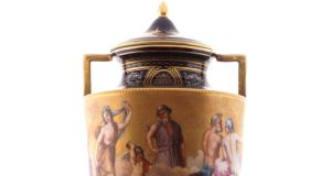 Detail from a 19th century painted urn which has a guide of €2,500-€3,500 at Sheppard's three-day sale which begins on Tuesday