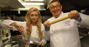 Actor Jenny Dickson and solicitor Gerald Keane will be cooking for a good cause  in Ouzo's, Blackrock