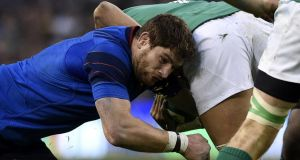 France lock Pascal Pape has appealed against his 10-week ban for kneeing Ireland's Jamie Heaslip in the back. Photograph: Franck Fife/AFP/Getty Images