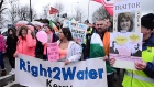 Water protesters scuffle with gardai at Labour party conference